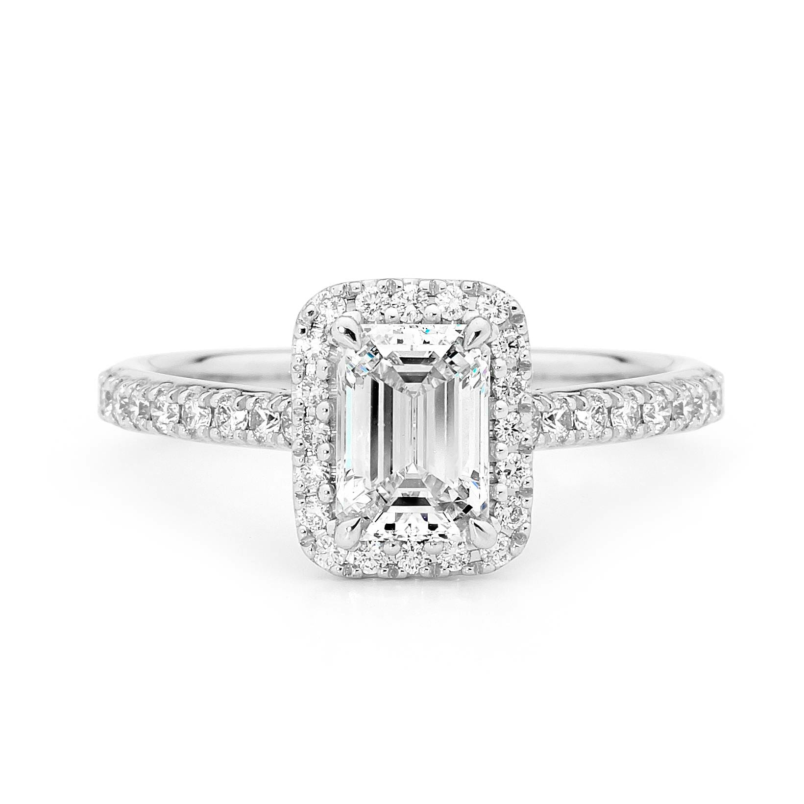 Emerald Cut Diamond Engagement -Ring